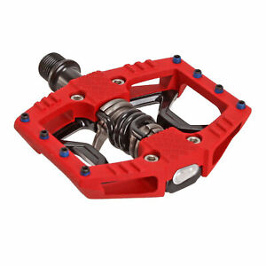 Crank Brothers Double Shot 3 hybrid pedals, red/black