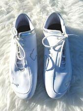 Puma Ferrari Leather White/Silver Mens Sneaker Sz 9 US