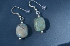 Ajoite and Papagoite Earrings love, healing, emotional support 4835