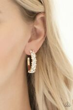 Galaxy Gold Post Hoops Paparazzi Accessories Jewelry Glitter