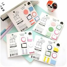 Creative Sticky Memo Pad Mini Note Kids Gift Bookmark Stationery Sticker