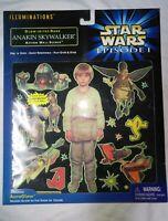 ANAKIN SKYWALKER STAR WARS EPISODE 1 AURAGLOW IN  DARK ACTION WALL SCENES™ NIB