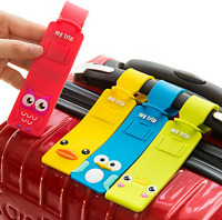 Silicone Cartoon Travel Luggage Tags Suitcase Baggage Label with Name Address