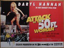 ATTACK OF THE 50FT WOMAN (1993) - original UK quad film/movie poster,sci-fi,rare