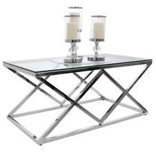 TAVOLO Tavolino in Vetro e Metallo lussuoso collezione Glamour NOVITA! 2 Modelli