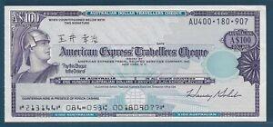 American Express Travelers Cheque Australian $100 /NOT SPECIMEN, AU