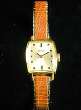 1238 Nivada 18k Solid Yellow Gold (Not Plated) Case 17 Jewel Wind Wrist Watch