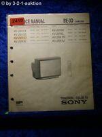 Sony Service Manual KV 29X1D /A /B /E /K /L /R /U (#2419)