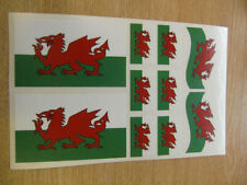 WELSH FLAG STICKERS SHEET SIZE 21cm x 14cm - WALES - DRAGON - DECALS