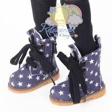 "Martin Stitch Shoes Boots Blue/W Patriotic Stars for Yo-SD BJD Dollfie/12"" Kish"