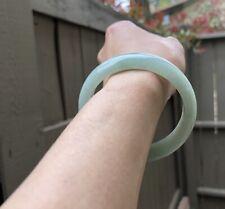 ~57MM Certified Grade A, translucent Icy Green Jadeite Bangle Bracelet 😍