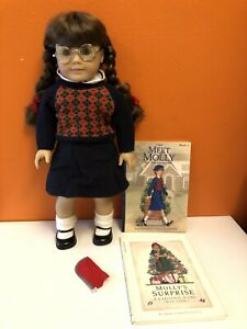 American Girl Pleasant Company Molly McIntire Doll Glasses Case Books Lot