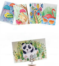 LOT 30PCS Cute Animal Postcard Panda Fox Lion Cat Bear Hatch Out Card Sets Bulk