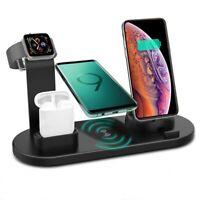 Qi 6 in 1 kabellose Ladestation für Apple Watch 5/4/3/2/1 iPhone 12 11 XS AirPod