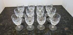 Set of Twelve Waterford Crystal Colleen Short Stem Claret/Wine Glasses