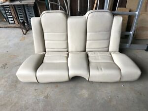 Jaguar XJS 1995 Celebration convertible rear seats.
