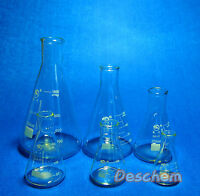 Glass Erlenmeyer Flask Kit,Lab Boro3.3 Conical Bottle,Normal Neck,6PCS/Lot