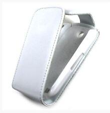 Housse Etui à rabat sur mesure façon cuir blanc pour SAMSUNG CORBY S3650