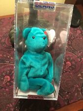 "Beanie Baby -Teddy-Of Teal ""GERMAN / kOREAN "" 2nd/1st  MWMT's-MQ -Authenticated"