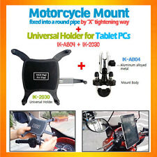 U-bolt handle bar motorcycle bike mount+tablet holder for iPad Air,GalaxyTab10