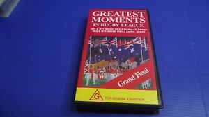 Greatest Moments in Rugby League - VHS - Free Postage - Aussie Seller