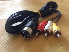 Cavo Video LCA Luma Chroma Audio 8DIN C64 128 Monitor Commodore 1701 1702 1084S