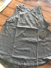 United By Blue Women's Charcoal Cotton Muscle Tank Top Size XL