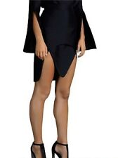 Brand New BY JOHNNY. Black Silk Blend Knee Length Skirt Size 6 Small S BNWOT