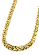 """14k Yellow Gold Hollow Franco Chain Necklace 24"""" 2.3mm"""