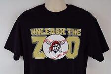 Pittsburgh Pirates 'Unleash the Zoo' Men's L T-Shirt, Black MLB Large Tee