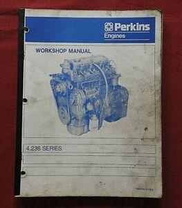 PERKINS 4.236 Motore Diesel Riparazione Ricostruzione Manuale Molto Buone