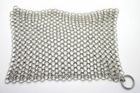 Cast Iron Cleaner 8x6 Inch Stainless Steel Chainmail Scrubber Skillet Cleaner
