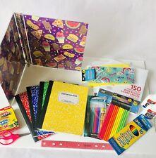 Back to School Supplies Kit Bundle Pack Set Grade K-8 Paper Glue Scissors Supply