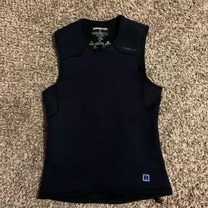 Patagonia R Men's Black Wet Suit Scuba Neoprene Stretch Sleeveless Vest Sz Large