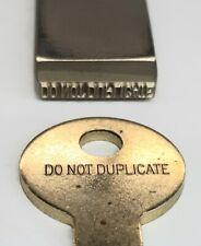 LockSmith Key Punch Stamping Tool,  Reads DO NOT DUPLICATE  EverStamp Stock #105