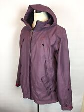 Foursquare Mens Purple Hooded Snowboard Jacket Size Large