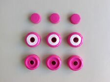 Tromba Plastic Bb Trumpet Valve Cap & Button Kit - Pink