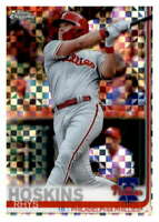 2019 Topps Chrome X-Fractor #195 Rhys Hoskins Philadelphia Phillies Baseball