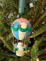 Noma Vintage 1989 Ornamotion Christmas Rotating Ornament Santa Hot Air Balloon