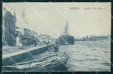 Brindisi Città Porto Barche cartolina KF2457