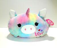 "KellyToy Squishmallow Esmeralda Stackable Soft Plush Unicorn Stuffed Friend 12"""