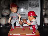 Roy Halladay and Carlos Ruiz Bobblehead w Autograph Ticket