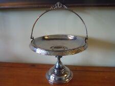 Antique Middletown Quad Plated Bride's Basket Cake Stand / No. 1771