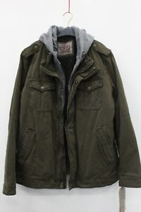 Levi's NWT $225 Olive Green Heavy Sherpa Lined Hooded Utility Jacket Size XL