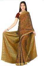 Marron Bollywood Carnaval sari Orient Inde ca129