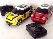 MINI COOPER R/C RADIO REMOTE CONTROL RED,YELLOW & SILVER CAR 1:20 BOYS & GIRLS