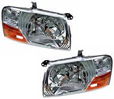 Pair Headlights Mitsubishi Pajero 11/00-10/06 New NP Front Lamps 01 02 03 04 05