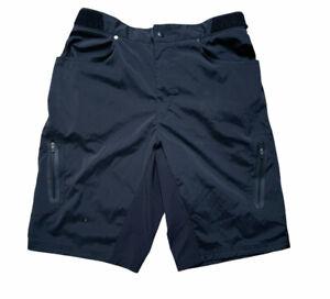 ZOIC Ether Mens Sz Large Black Mountain Biking Cycling Elastic Shorts No Liner