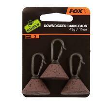 Fox Pêche à la Carpe Accessoire - Abaissement de Plomb Bords Arrière Leads 43g