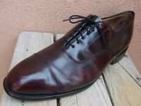 JOHNSTON MURPHY Mens Dress Shoes Burgundy Leather Cap Toe Oxfords Size 11.5EEE